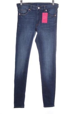 Monki Skinny Jeans stahlblau Casual-Look