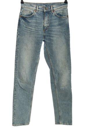 Monki Slim Jeans blau Casual-Look