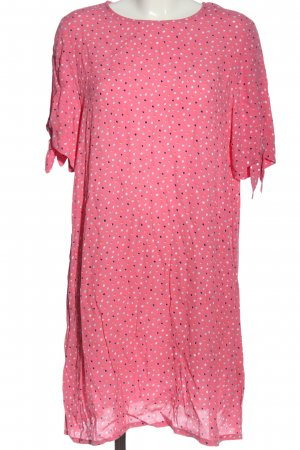 Monki Sommerkleid pink Allover-Druck Casual-Look