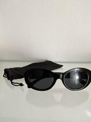 Monki Owalne okulary przeciwsłoneczne czarny