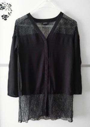 Monki Spitzen Bluse Schwarz Gr. S