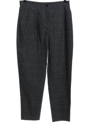 Monki Jersey Pants light grey-black check pattern casual look