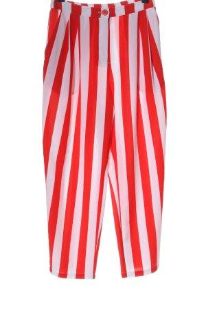 Monki Stoffhose rot-weiß Allover-Druck extravaganter Stil