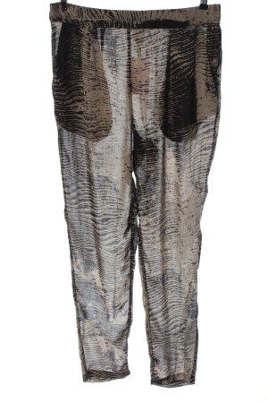 Monki Stoffhose schwarz-creme abstraktes Muster Casual-Look