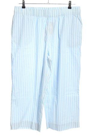 Monki Jersey Pants blue-white striped pattern casual look