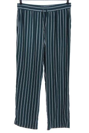 Monki Jersey Pants green-white striped pattern casual look