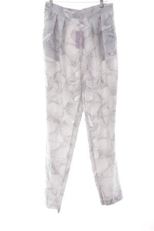 Monki Stoffhose weiß-grau abstraktes Muster Street-Fashion-Look