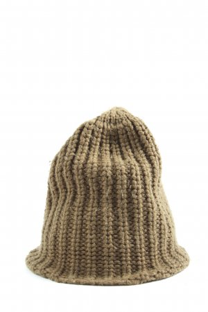 Monki Knitted Hat bronze-colored cable stitch casual look
