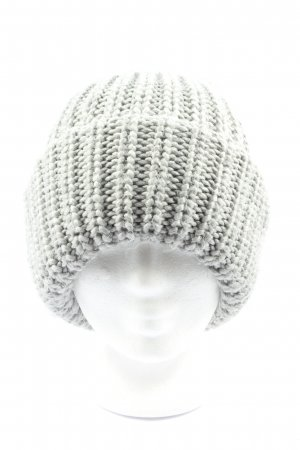 Monki Chapeau en tricot gris clair torsades style décontracté