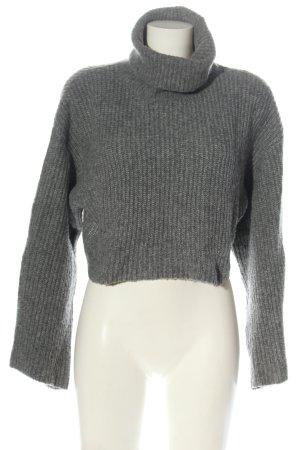 Monki Maglione dolcevita grigio chiaro puntinato stile casual