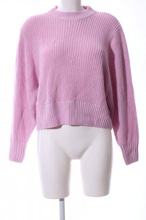 Monki Strickpullover pink Casual-Look