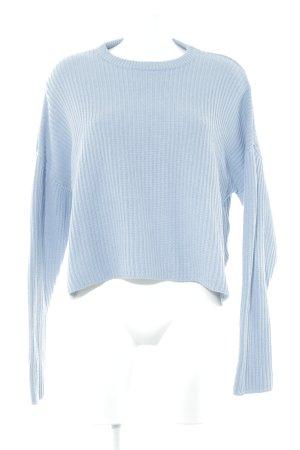 Monki Strickpullover blau-himmelblau Casual-Look
