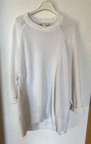 Monki Strickpullover Weiß Creme S M Boxy Oversized Pulli Jumper Pullover 36 38 Skandi