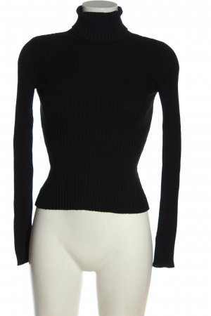 Monki Knitted Jumper black cable stitch casual look