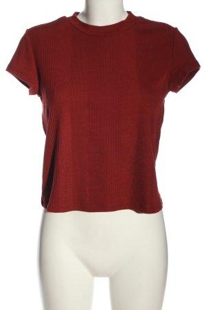 Monki Camicia maglia rosso motivo a righe stile casual