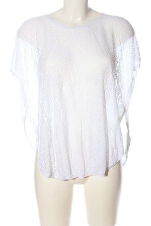 Monki Strickshirt weiß grafisches Muster Casual-Look