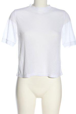 Monki Camicia maglia bianco stile casual