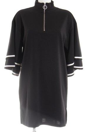 Monki Sweatkleid schwarz-weiß Casual-Look