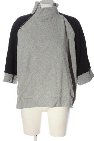 Monki Felpa grigio chiaro-nero puntinato stile casual