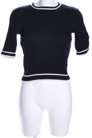 Monki T-Shirt schwarz-weiß Streifenmuster Casual-Look