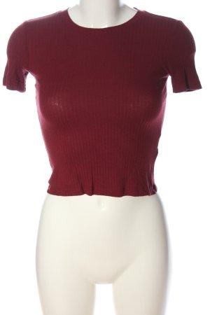 Monki Camiseta rojo look casual