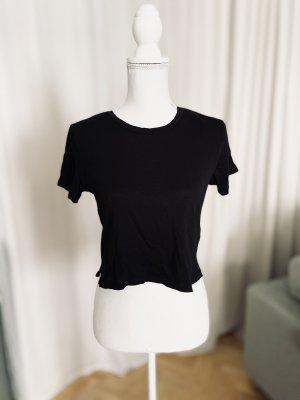 Monki Crop-top noir coton