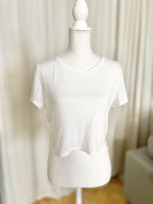Monki Crop-top blanc coton