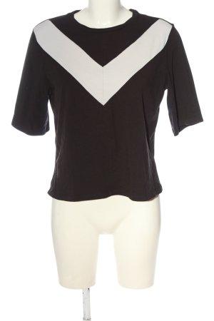 Monki T-shirt brun-crème style décontracté