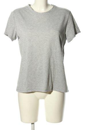 Monki T-Shirt hellgrau meliert Casual-Look