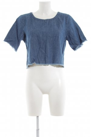 Monki T-Shirt stahlblau Casual-Look