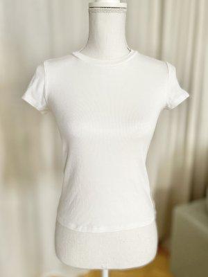 Monki Shirt basique blanc coton