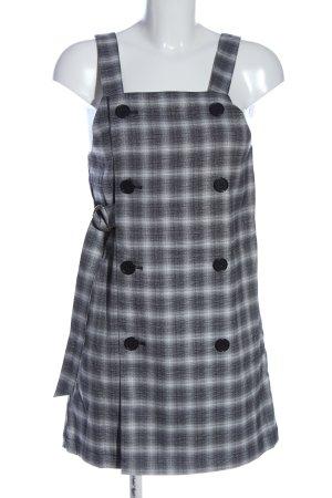 Monki Trägerkleid schwarz-weiß Karomuster Casual-Look