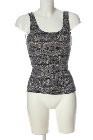 Monki Trägertop schwarz-weiß abstraktes Muster Casual-Look