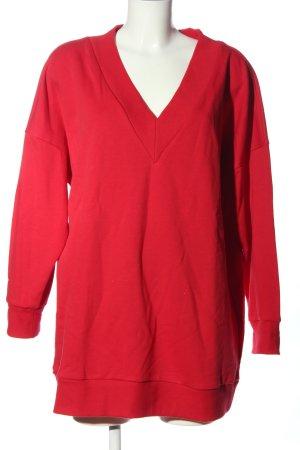 Monki V-Ausschnitt-Shirt rot Casual-Look