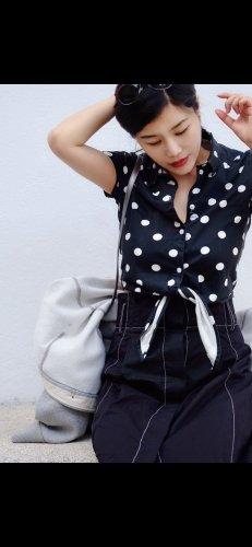 Monki Blouse Top black-white