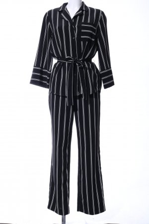 Monki Web Twin Set schwarz-weiß Allover-Druck Business-Look