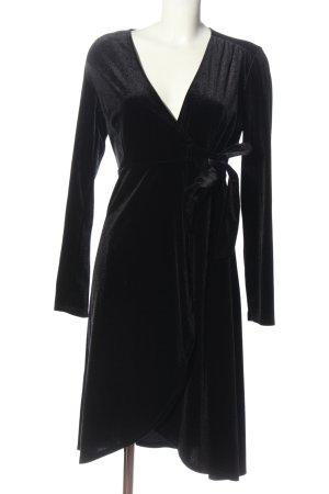 Monki Wickelkleid schwarz Elegant