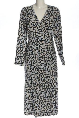 Monki Vestido cruzado estampado con diseño abstracto look casual