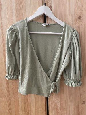 Monki Wraparound Shirt sage green