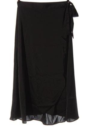 Monki Kopertowa spódnica czarny W stylu casual