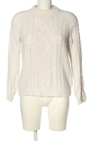 Monki Warkoczowy sweter kremowy Warkoczowy wzór W stylu casual