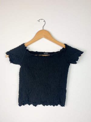 Monki Camisa tipo Carmen negro-crema