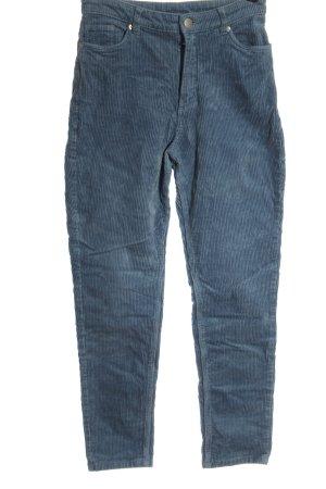 MONKL Corduroy broek blauw casual uitstraling