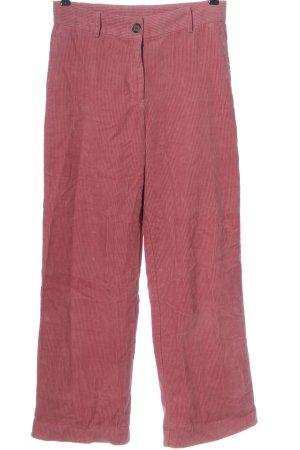 MONKL Pantalon en velours côtelé rose élégant