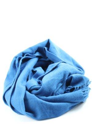 MONKL Sciarpa con frange blu stile casual