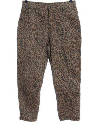 MONKL Jeans a vita alta marrone-nero motivo animale stile casual