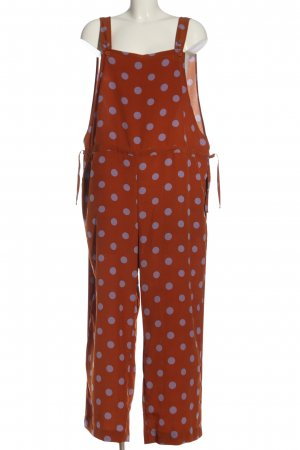 MONKL Langer Jumpsuit rot-lila Allover-Druck Casual-Look