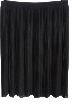 MONKL Falda plisada negro look casual