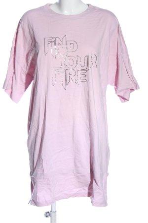 MONKL Vestido estilo camisa rosa letras impresas look casual