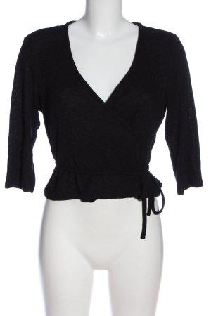 MONKL Kopertowa bluzka czarny W stylu casual